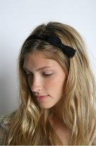 Elastic Lace Bow Headwrap