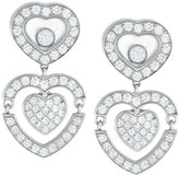 Chopard 18k Happy Amore Double-Drop Diamond Earrings