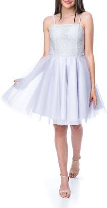 Un Deux Trois Girl's Sequin Tulle Party Dress, Size 7-16