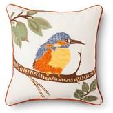 Threshold Throw Pillow Embroidered Bird –