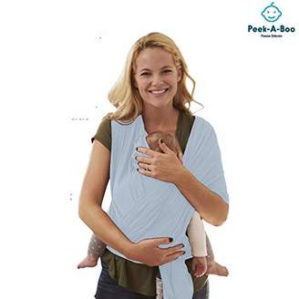 Peek-A-Boo | Premium Baby Wrap Carrier Adjustable Breastfeeding Cover Cotton Sling Baby Carrier for Infants up to 35 lbs/16kg, Soft and Comfortable | One Size Fits All | Cozy & Soothing For Babies | Suitable for Newborns, Infants & Toddlers | Premium Cotton/Spandex Comfort Fabric |100% Guarantee | Ideal Gift I LIGHT GREY