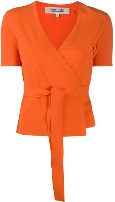 Diane von Furstenberg Mirella knit wrap top