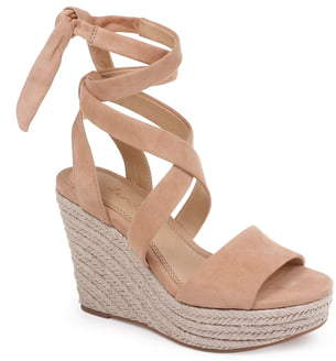 db41ca2fe29 Tessie Ankle Wrap Wedge Sandal