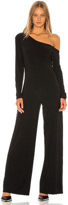 Norma Kamali Long Sleeve Drop Shoulder Jumpsuit