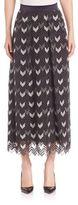 Escada Ankle Length Herringbone Skirt