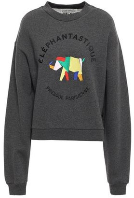 Être Cécile Embroidered Cotton-fleece Sweatshirt