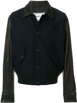 Ami Bimaterial Snap Buttons Jacket