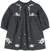 Bonpoint Embroidered flannel dress