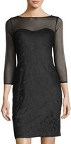 Karl Lagerfeld Illusion-Yoke Lace Sheath Dress