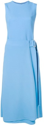 Victoria Beckham sleeveless dress with buckle detail
