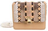 Roberto Cavalli Hera Snakeskin & Leather Crossbody Bag