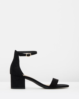 Spurr Women's Black Heeled Sandals - Lunar Block Heels - Size 5 at The Iconic