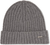 Hugo Boss - Benzo Ribbed Cashmere And Wool-blend Beanie