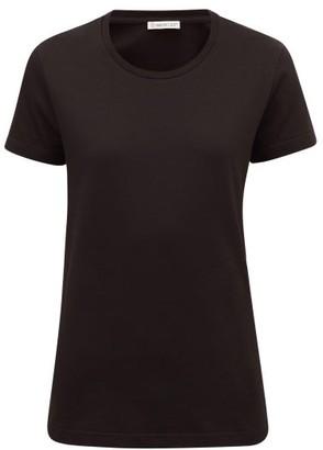 Moncler Logo-applique Cotton T-shirt - Black