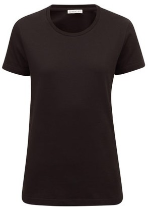 Moncler Logo-applique Cotton T-shirt - Womens - Black