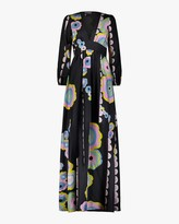 Cynthia Rowley Genevieve V Neck Maxi Dress