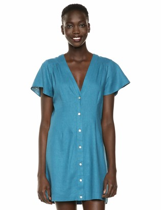 BCBGeneration Women's Flutter Sleeve Shirt Dress