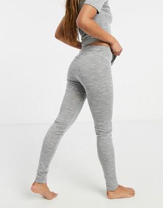 Lindex 100% merino wool base layer legging in grey