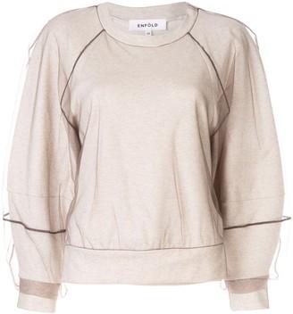 Enfold Tulle Overlay Sweatshirt