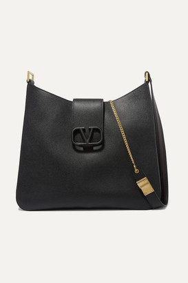 Valentino Garavani Vsling Textured-leather Shoulder Bag - Black