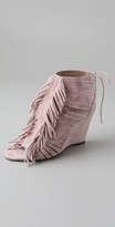 Rock Steady Fringe Suede Booties
