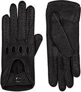 Barneys New York Women's Leather Driving Gloves-BLACK