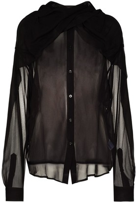 Y/Project Scarf-Neck Sheer Blouse