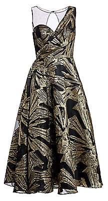 Theia Women's Brocade Fit-&-Flare Cocktail Dress