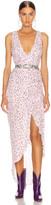Nicholas Drape Front Dress in Puff Multi | FWRD