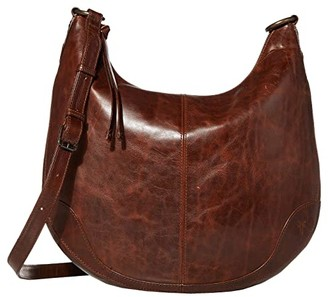 Frye Melissa Zip Scooped Hobo (Dark Brown) Hobo Handbags