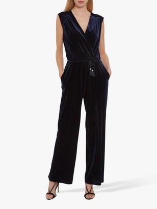 Gina Bacconi Ferne Velvet Wrap Jumpsuit