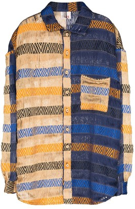 Bethany Williams Handwoven Colour-Blocked Shirt