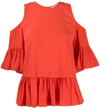 Twin-Set Ruffle Trim Top