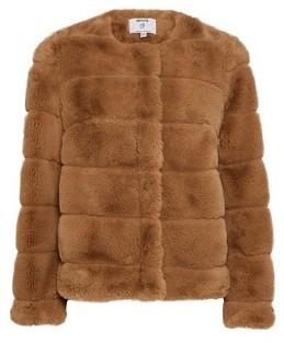 Dorothy Perkins Womens Dp Petite Camel Short Faux Fur Coat