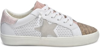 Vintage Havana Sandy Leather & Faux Leather Embroidered Sneakers