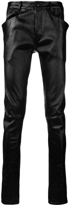 Rick Owens Skinny Leather Trousers