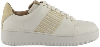 Agnona Nappa Calf Leather Sneakers With Mohair Stitching