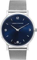Larsson & Jennings Lugano 38mm Silver & Navy Watch