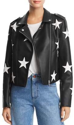 Blank NYC BLANKNYC Star Faux Leather Moto Jacket