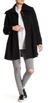 Kimi + Kai Jessa Wool Blend Pleated Swing Coat (Maternity)