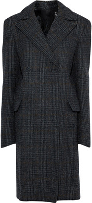 Y/Project Oversized Double-breasted Checked Wool Coat