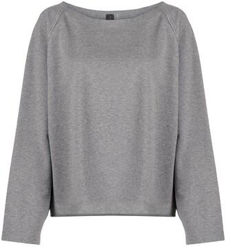 Norma Kamali Drop-Shoulder Cropped Sweatshirt