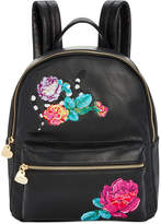 Betsey Johnson Floral Embroidery Small Backpack