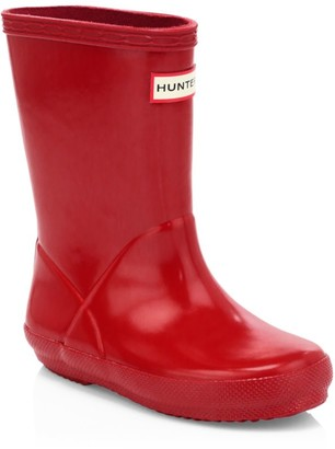 Hunter Baby's, Little Kid's & Kid's First Gloss Rainboots