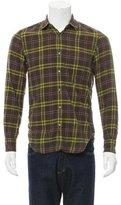 Aspesi Plaid Button-Up Shirt