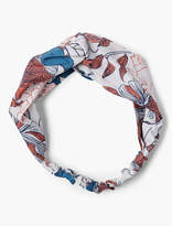 Lucky Brand Exploded Floral Twisted Headscarf