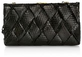 Thumbnail for your product : Nancy Gonzalez Large Woven Snakeskin Frame Clutch