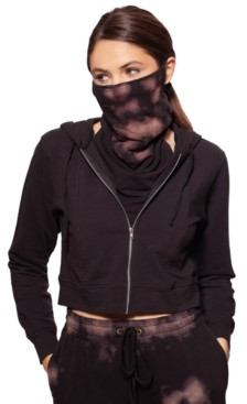 Bam by Betsy & Adam Cropped Zip-Up Hoodie With Removable Tie-Dyed Dickie Mask, Created for Macy's