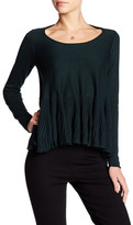 Max Studio Long Sleeve Peplum Sweater