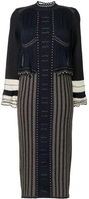 Mame Kurogouchi Layered Knitted Dress